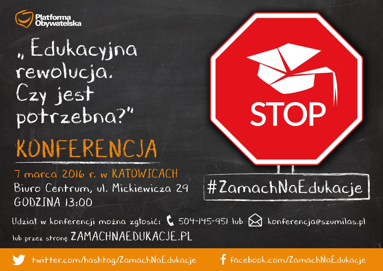 """Konferencja 07.03.2016 r. """"Edukacyjna rewolucja. Czy jest potrzebna?""""."""