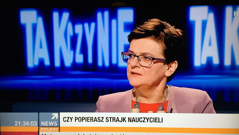 O strajku nauczycieli w Polsat News