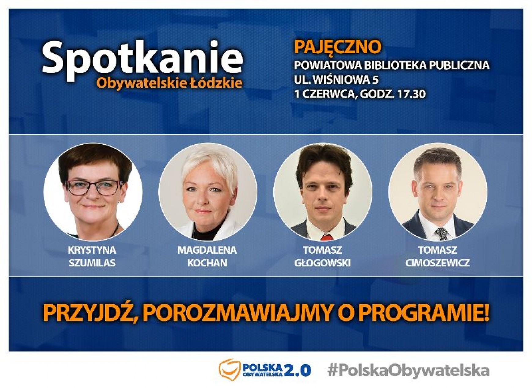 Spotkanie Obywatelskie w Pajęcznie