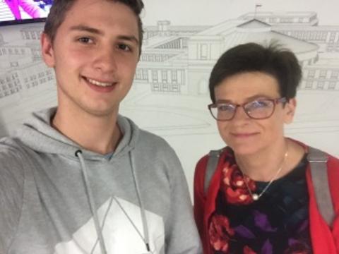 Gimnazjaliści z Przyszowic zwiedzali Sejm