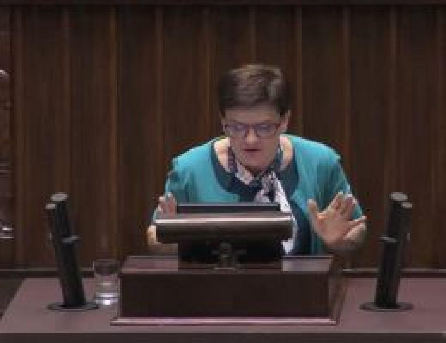 Wystąpienie z 25 stycznia 2018 roku podczas debaty o propagowaniu totalitarnych ustrojów