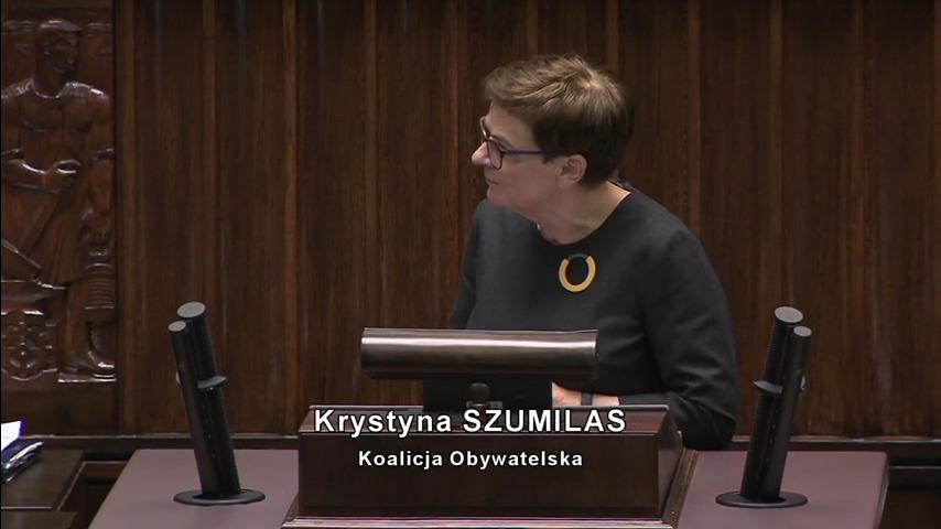 Wystąpienie w Sejmie z 8 stycznia 2020 r.