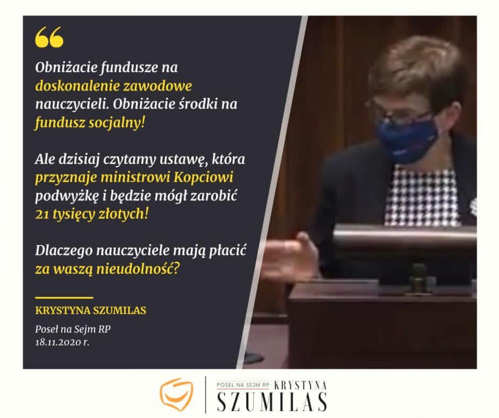 Wystąpienie podczas 21. posiedzenia Sejmu